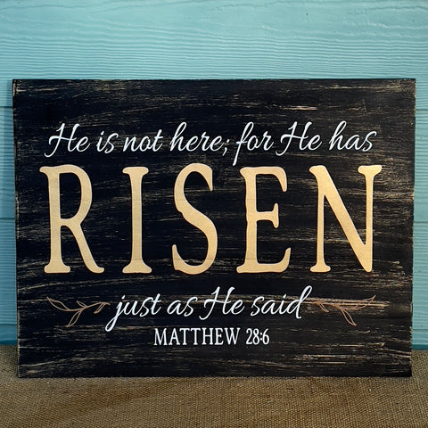 He Is Not Here; For He Has Risen: SIGNATURE DESIGN