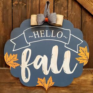 Hello Fall Flourish: DOOR HANGER DESIGN