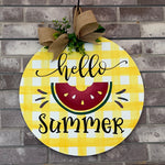 Hello Summer Watermelon: CIRCLE DOOR HANGER DESIGN