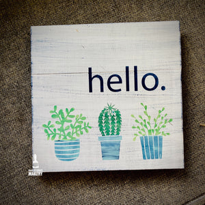 Hello Succulents: SQUARE DESIGN - Paisley Grace Designs
