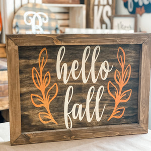 Hello Fall with Laurels: SIGNATURE DESIGN