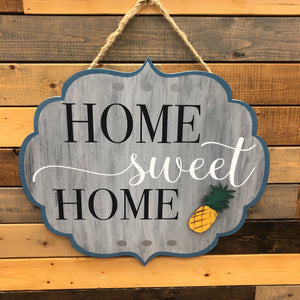 Home Sweet Home Flourish Door Hanger: INTERCHANGEABLE DESIGN - Paisley Grace Designs