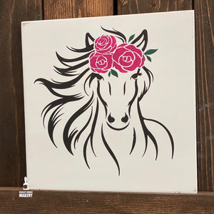 Horse with Flowers: MINI DESIGN
