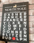 North Pole Stables Reindeer Names SIGNATURE DESIGN
