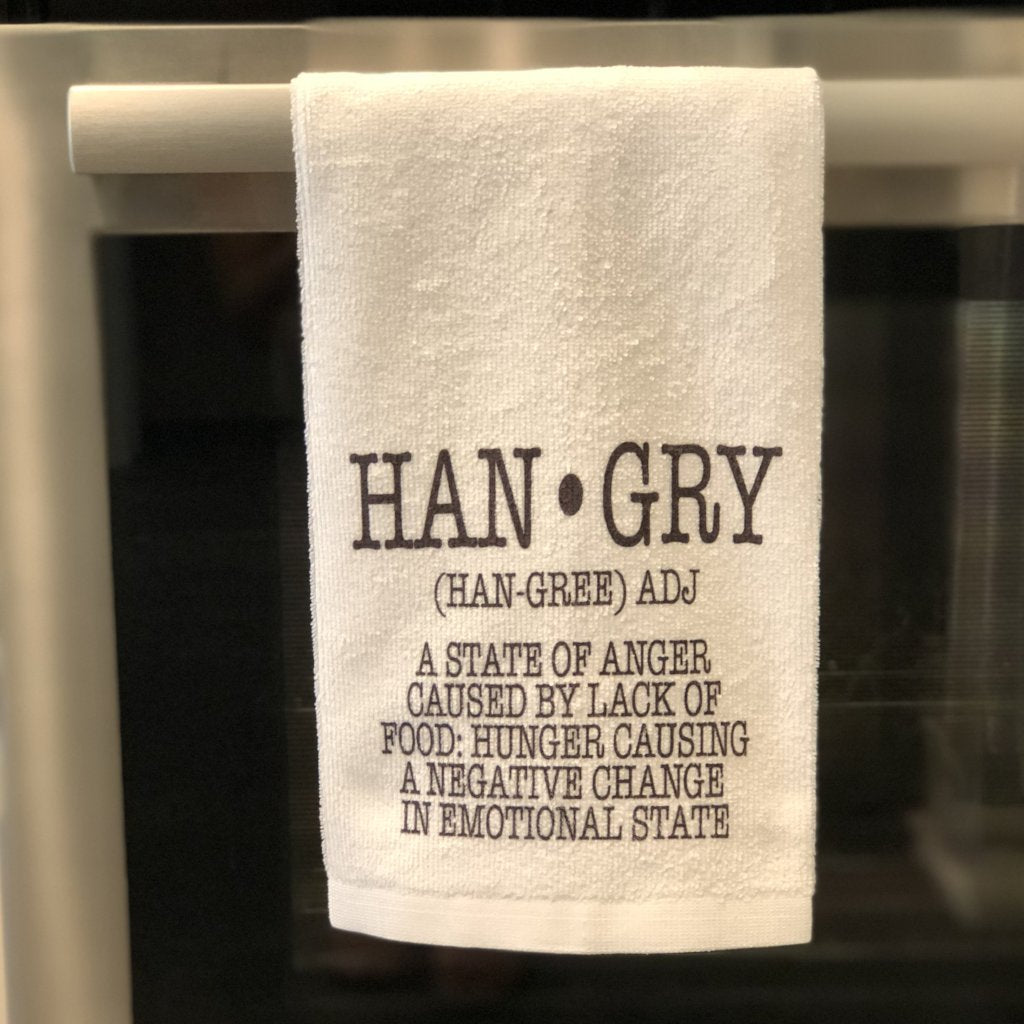 HANGRY definition Kitchen Towel - Paisley Grace Designs