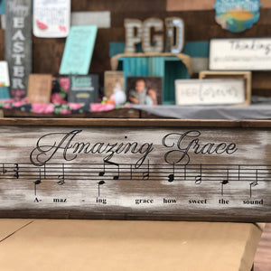 AMAZING GRACE: SHEET MUSIC DESIGN - Paisley Grace Designs
