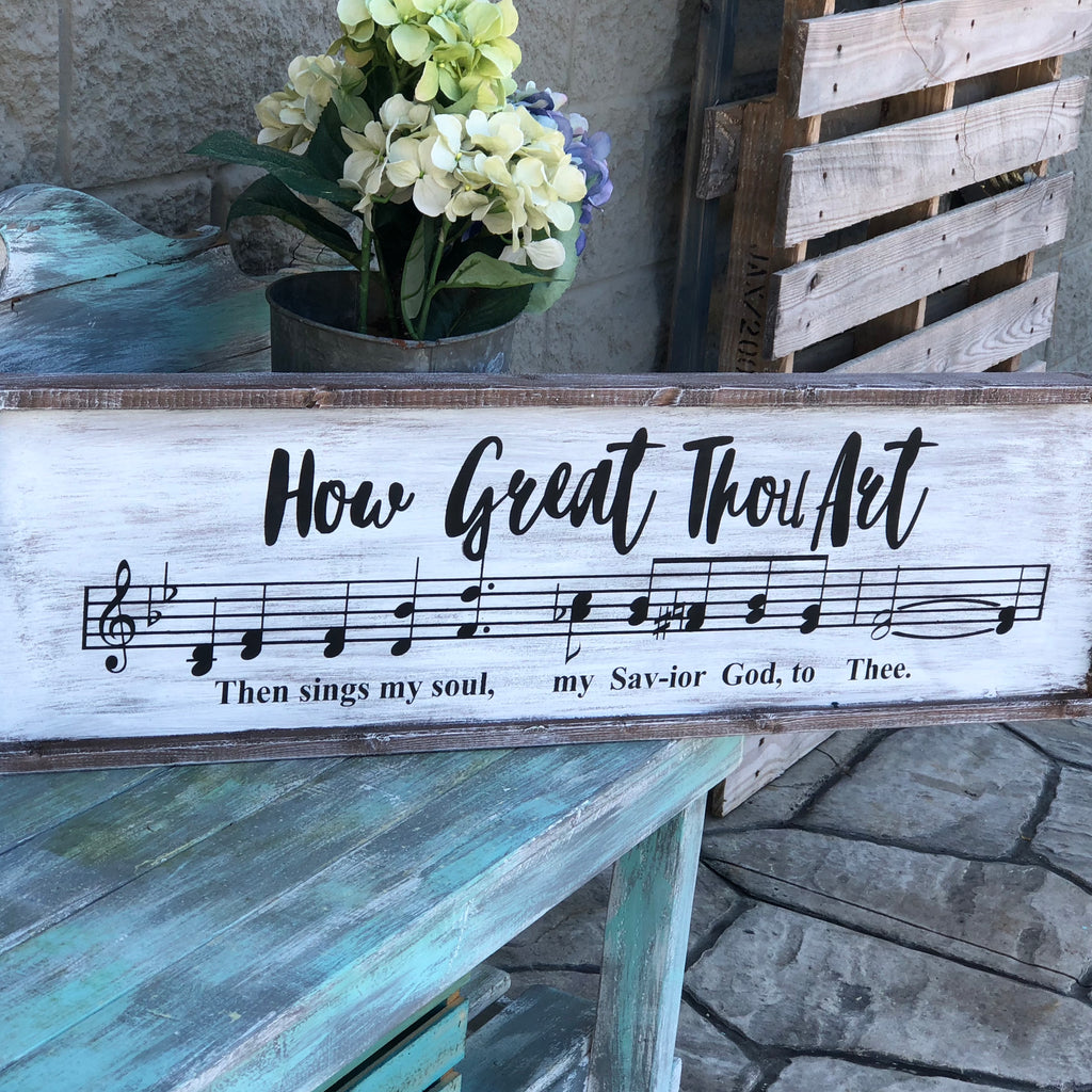 HOW GREAT THOU ART: SHEET MUSIC DESIGN - Paisley Grace Designs