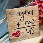 You + Me = US: MINI DESIGN