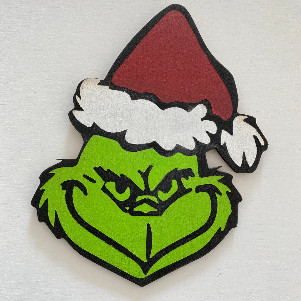 Grinch with Santa Hat: Interchangeable Shape - Paisley Grace Designs