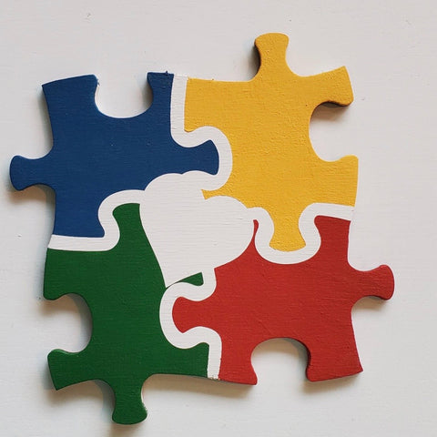 Autism Puzzle: Interchangeable Shape - Paisley Grace Designs