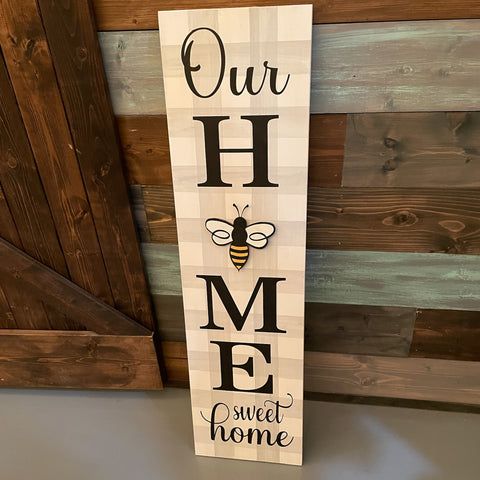 Our Home Sweet Home Medium Plank 10x36: INTERCHANGEABLE DESIGN