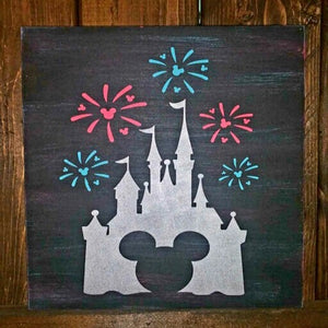 Mickey castle with Fireworks: MINI DESIGN