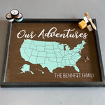 Our Adventures Map Personalized: Signature Design