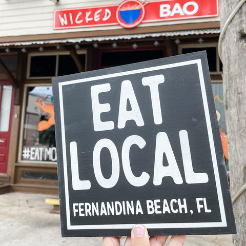 Eat Local (Personalized Location): MINI DESIGN