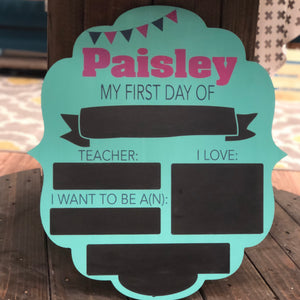 FIRST DAY OF SCHOOL BRACKET: DOOR HANGER DESIGN - Paisley Grace Designs