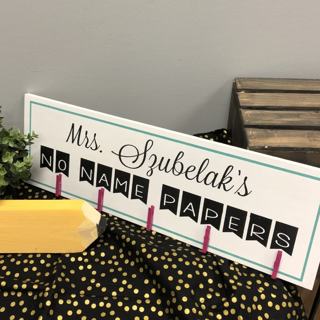No Name Papers (personalized): PLANK DESIGN - Paisley Grace Designs