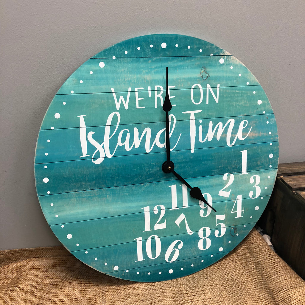 WE'RE ON ISLAND TIME: CLOCK WORKSHOP DESIGN - Paisley Grace Designs