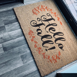 HELLO FALL: Door Mat Design - Paisley Grace Designs