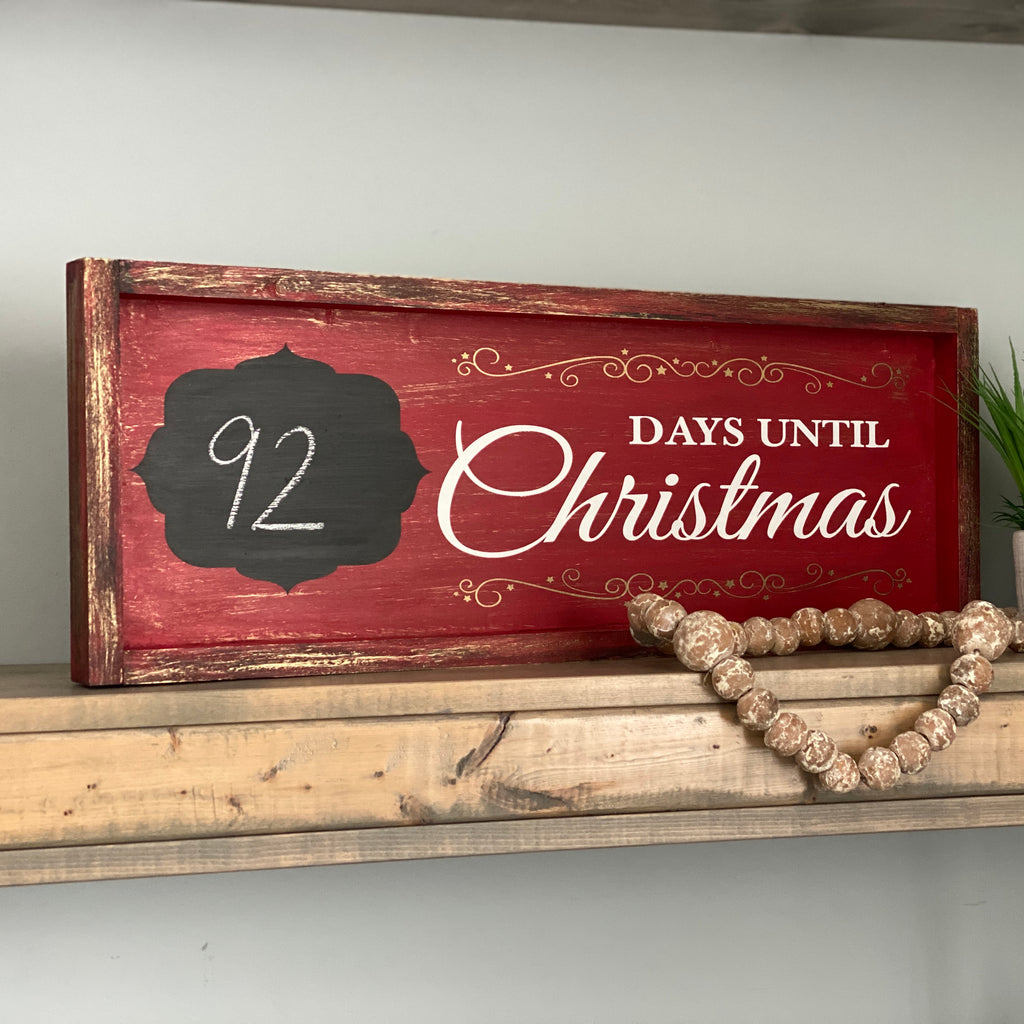 Days Until Christmas (Countdown): Plank Design