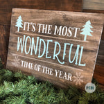 It's the Most Wonderful Time of the Year (Horizontal): Signature Design - Paisley Grace Designs