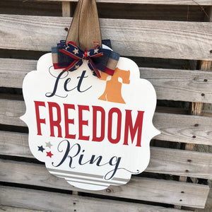 LET FREEDOM RING BRACKET: DOOR HANGER DESIGN - Paisley Grace Designs