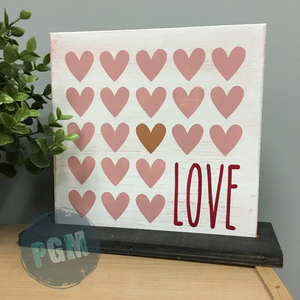 LOVE WITH HEARTS:  MINI 8x8 Design - Paisley Grace Designs