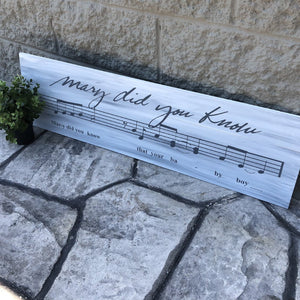 Mary Did You Know: SHEET MUSIC DESIGN - Paisley Grace Designs