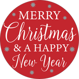 Merry Christmas & a Happy New Year: Swappable Round Door Hanger Insert