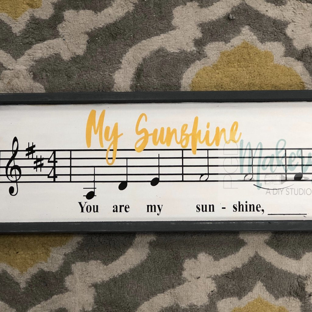 You Are My Sunshine: SHEET MUSIC DESIGN
