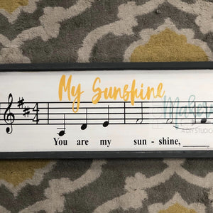 You Are My Sunshine: SHEET MUSIC DESIGN - Paisley Grace Designs