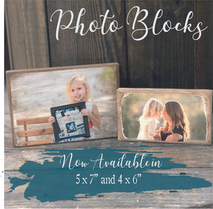MINI PHOTO BLOCK- 4x6 or 5x7 WITH YOUR IMAGE - Paisley Grace Designs