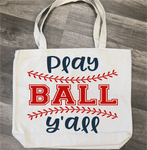 Play Ball Y'all: Canvas Bag/Pillow Design - Paisley Grace Designs