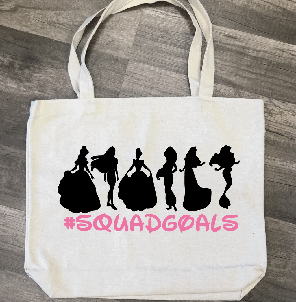 Princess Squad Goals: Canvas Bag/Pillow Design - Paisley Grace Designs