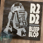 R2D2 BLEEP BLOP: SQUARE DESIGN - Paisley Grace Designs