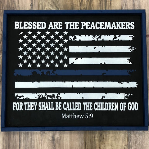 BLESSED ARE THE PEACEMAKERS (Tattered Flag): SIGNATURE DESIGN - Paisley Grace Designs