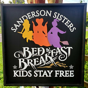 Sanderson Sisters Bed & Breakfast Kids Eat Free: SQUARE DESIGN