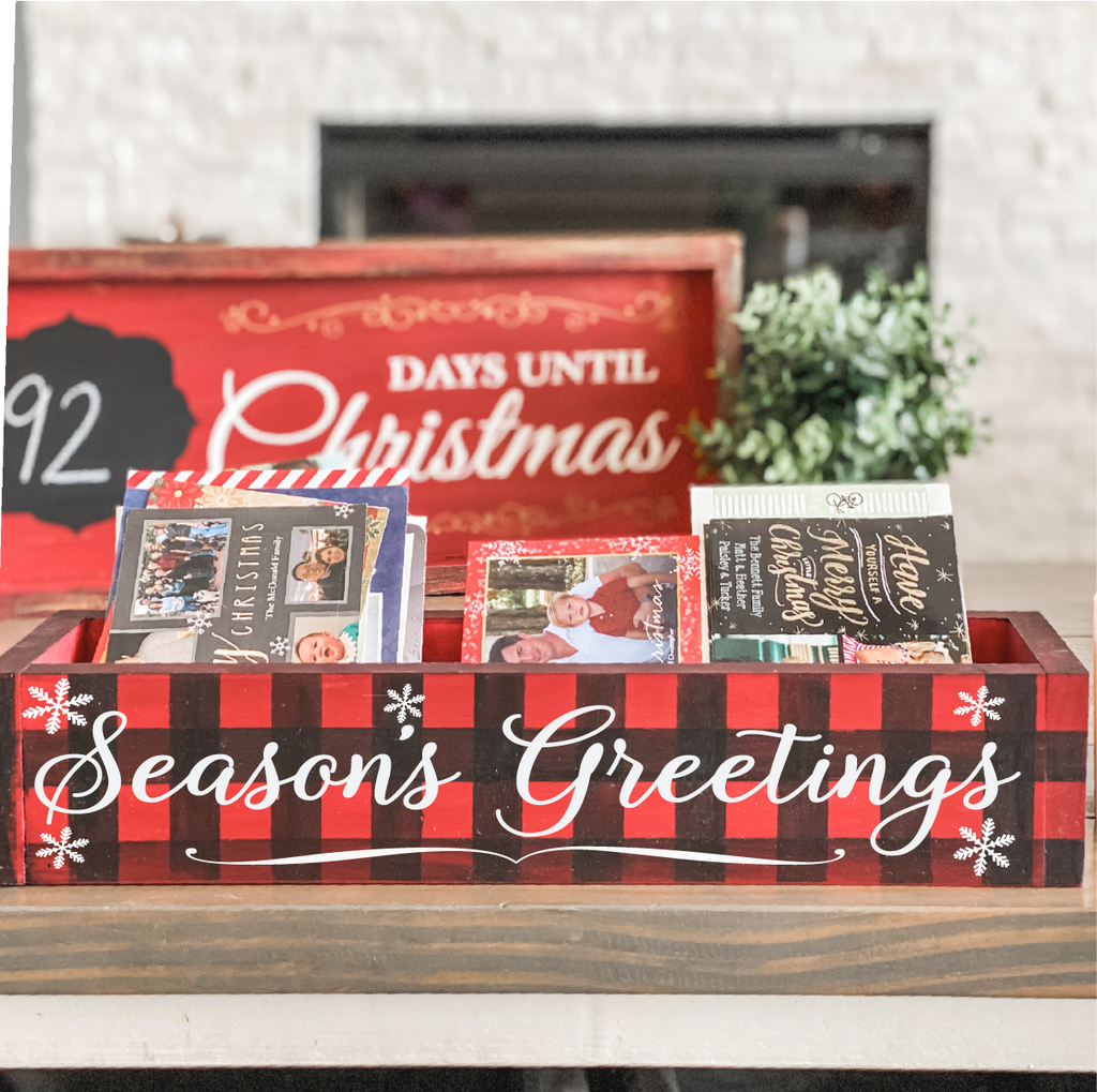 Seasons Greetings: WOOD BOX