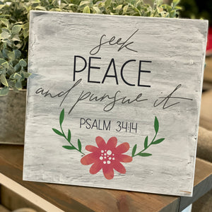 Seek Peace and Pursue It: SQUARE DESIGN