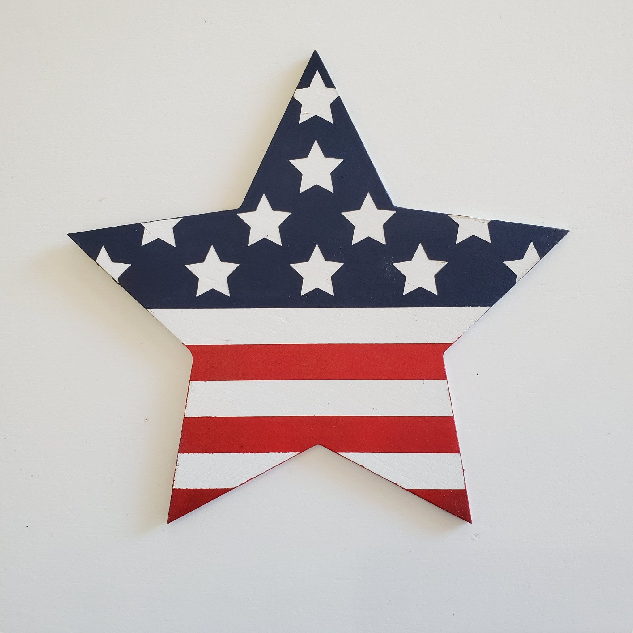 Star with Flag: Interchangeable Shape - Paisley Grace Designs