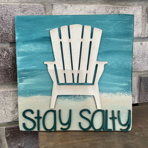 Stay Salty 3D Mini Sign