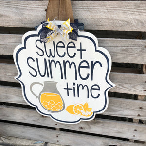 LEMONADE- SWEET SUMMERTIME BRACKET: DOOR HANGER DESIGN - Paisley Grace Designs