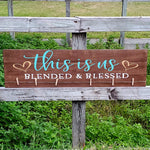 This Is Us Blended & Blessed Photo Holder: PLANK DESIGN