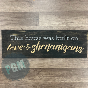THIS HOUSE WAS BUILT ON LOVE AND SHENANIGANS: PLANK DESIGN