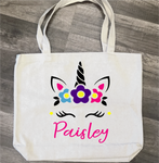 Unicorn Personalized: Canvas Bag/Pillow Design - Paisley Grace Designs