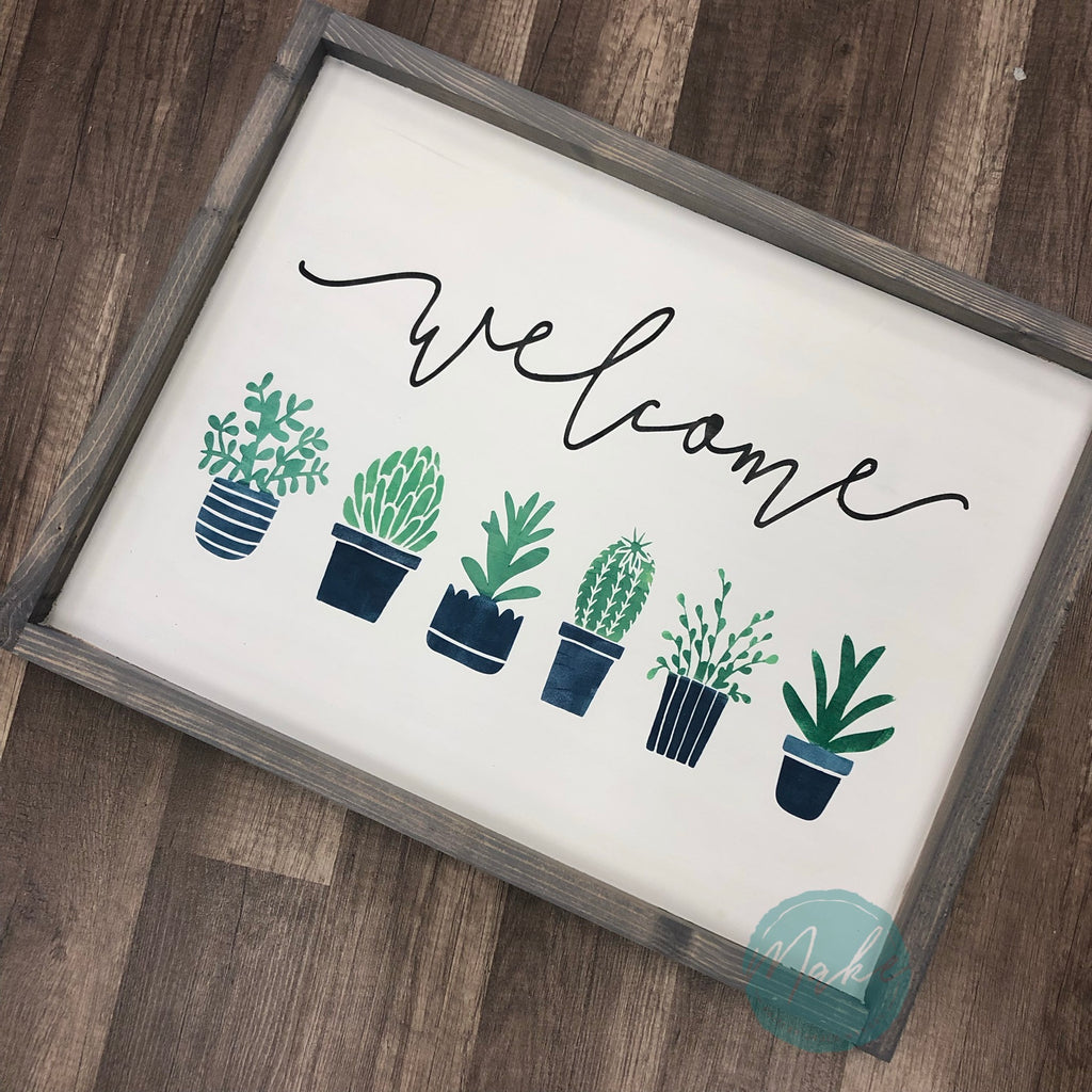 Welcome with Succulents: SIGNATURE DESIGN - Paisley Grace Designs