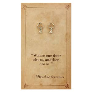 Literary Quotes Key Post Earrings