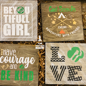 Girl Scouts 4 Pack Take and Make Kit - Paisley Grace Designs