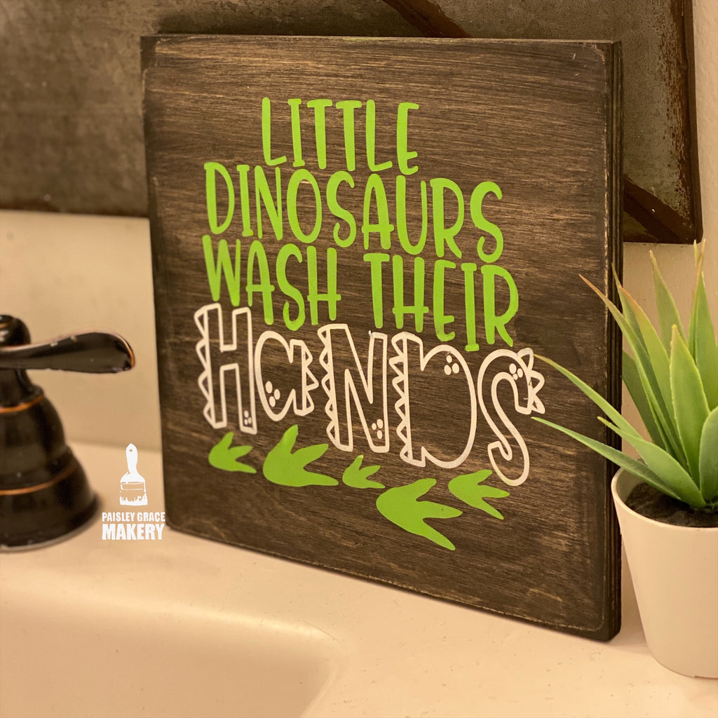 Little Dinosaurs wash their hands: MINI DESIGN