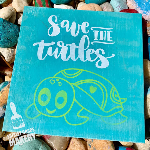 Save the Turtles: MINI DESIGN - Paisley Grace Designs