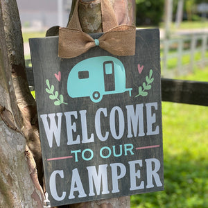 "Welcome to Our Camper: DOOR HANGER DESIGN (12x16"")"